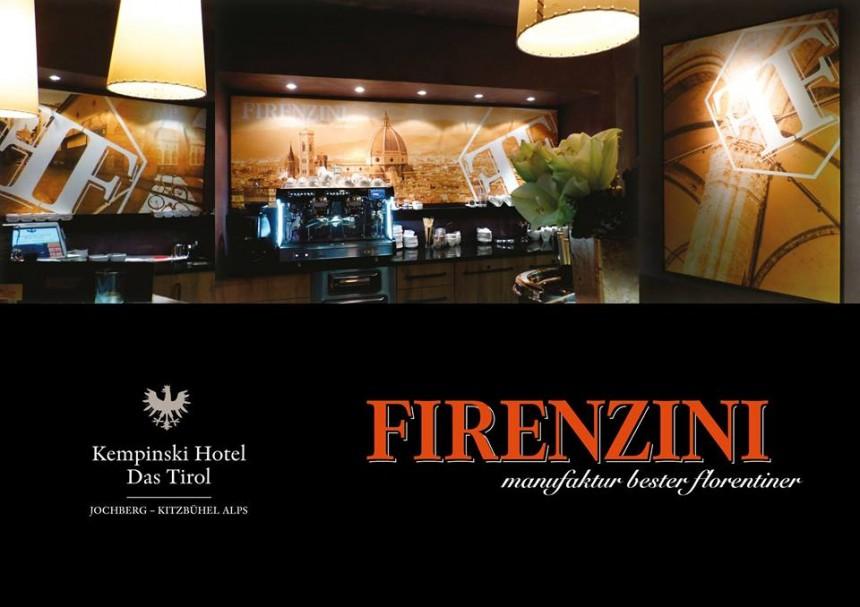 FIRENZINI Café PIAZZA, im Kempinski Hotel Das Tirol