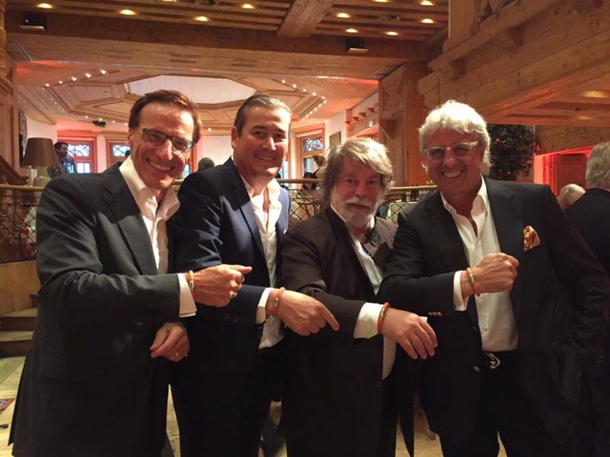 FIRENZINI Club beim Filmfestival Kitzbühel mit Peter Pohlner, Volker Zeh, Sir Igor Ustinov und Bernie Paul