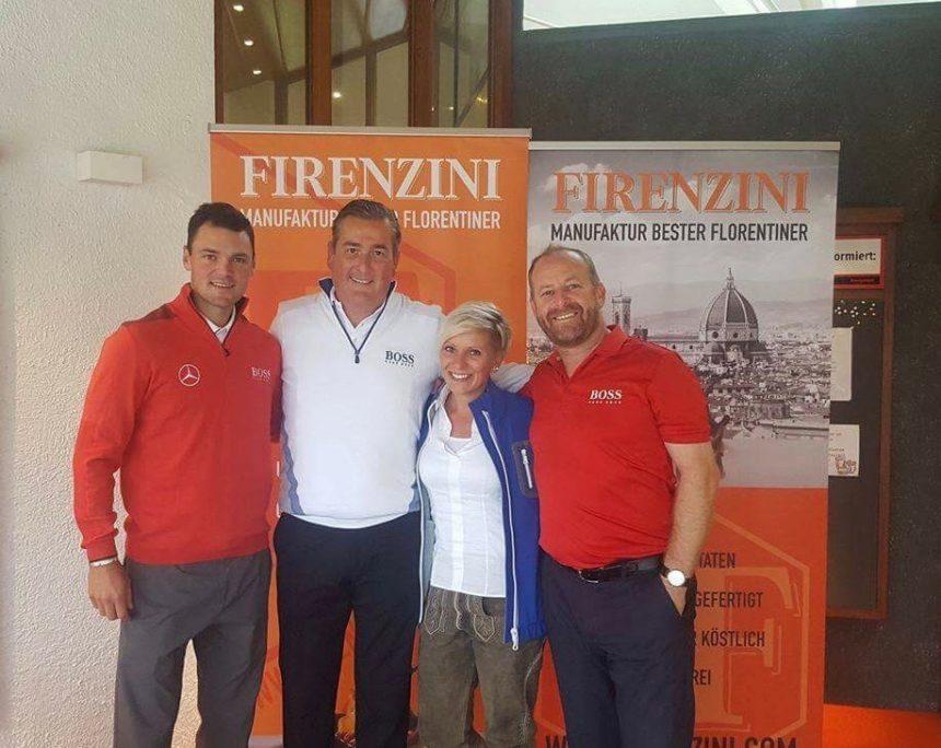 Golfpros Martin Kaymer & Gary Evans bei der Mercedes-Benz HUGO BOSS Golftrophy mit FIRENZINI