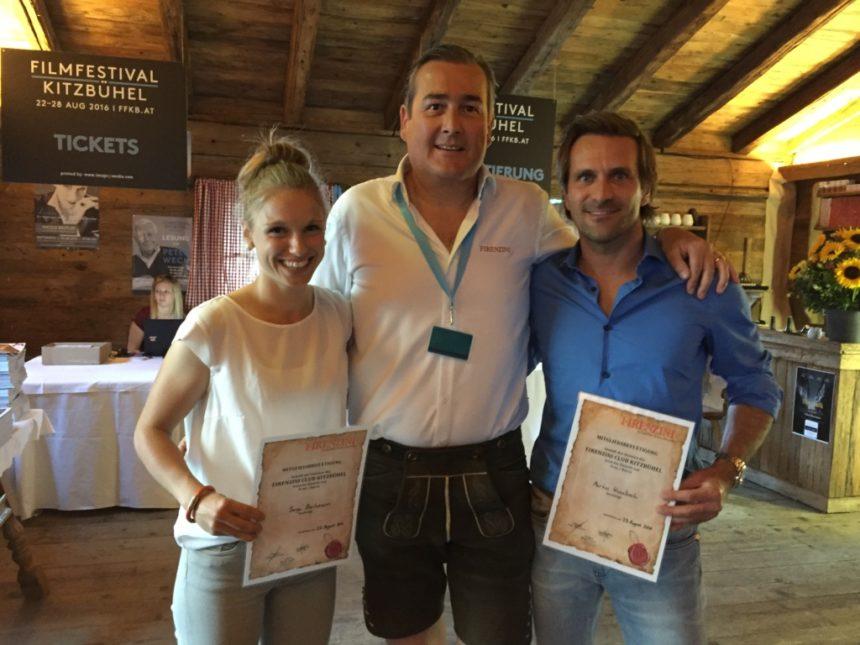 FIRENZINI Club mit Biathletin Sonja Bachmann, Volker Zeh und Rennfahrer Markus Winkelhock