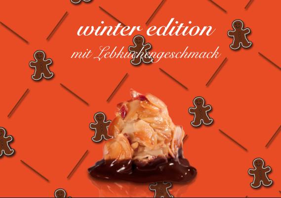 Good news! Ab jetzt gibt es die Firenzini WINTER EDITION: Zu jeder Holzkassette mit 12 köstlichen, handgefertigten Florentinern gibt es einen stylischen Quisy - quick n easy headwear! Wählen Sie zwischen der klassischen Variante mit Vollmilch- und Zartbitter-Schokoladen-Veredelung oder den Florentinern mit Lebkuchengeschmack und versüßen Sie sich und Ihren Lieben den Advent!