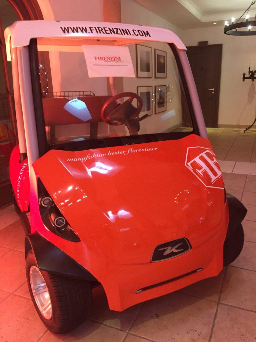 FIRENZINI-Golfcar bei der Versteigerung des VST Golfcharity Weekend